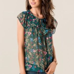 Everly floral blouse sleeveless top chiffon flower
